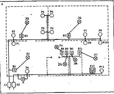 Пример электропроводки