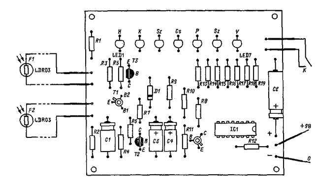 Монтажная схема электронного